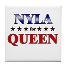 NYLA for queen Tile Coaster