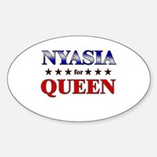 NYASIA for queen Oval Decal