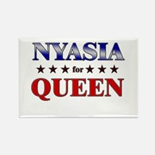 NYASIA for queen Rectangle Magnet