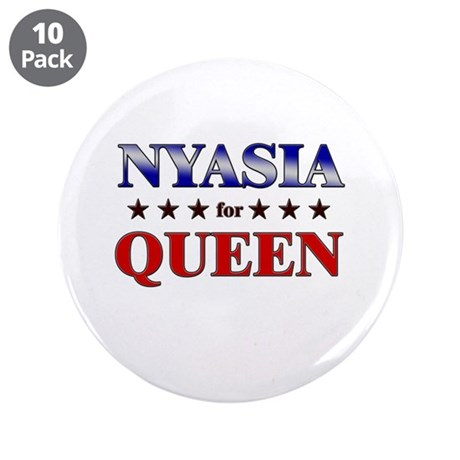 "NYASIA for queen 3.5"" Button (10 pack)"