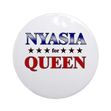 NYASIA for queen Ornament (Round)