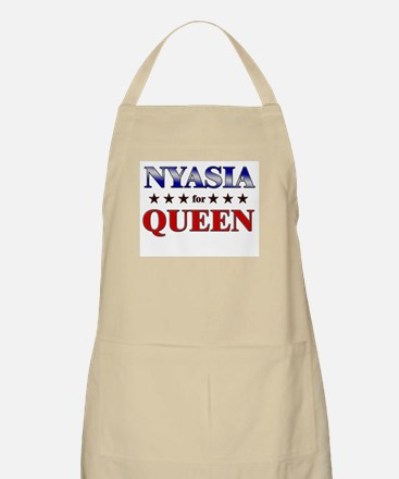 NYASIA for queen BBQ Apron