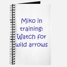Miko Training Arrows Blue Journal