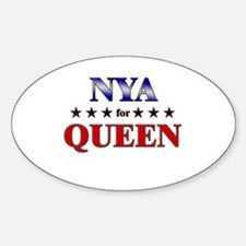 NYA for queen Oval Decal