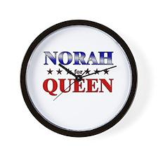 NORAH for queen Wall Clock