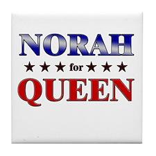 NORAH for queen Tile Coaster