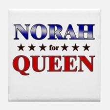 NORAH for queen Tile Coaster