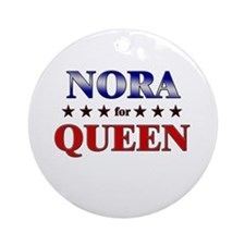 NORA for queen Ornament (Round)
