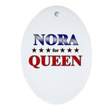 NORA for queen Oval Ornament