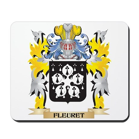 Fleuret Coat of Arms - Family Crest Mousepad