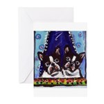 FRENCH BULLDOG window Greeting Cards (Pk of 10