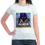 FRENCH BULLDOG window Jr. Ringer T-Shirt