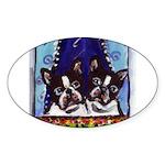FRENCH BULLDOG window Oval Sticker