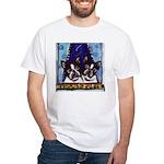FRENCH BULLDOG window White T-Shirt
