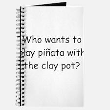 Pinata Clay Pot Black Journal