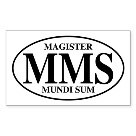 Master of the World Rectangle Sticker