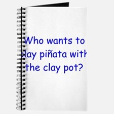 Pinata Clay Pot Blue Journal