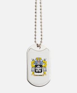 Fleuron Coat of Arms - Family Crest Dog Tags
