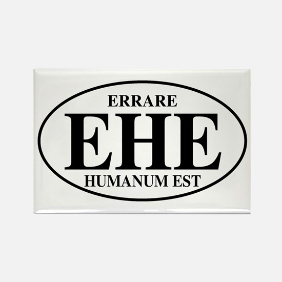 To Err Is Human Rectangle Magnet
