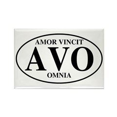 Love Conquers All Rectangle Magnet (10 pack)