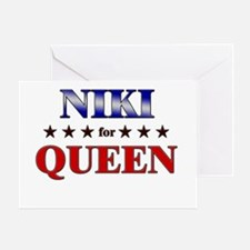 NIKI for queen Greeting Card