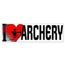 I Love Archery Bumper Bumper Sticker