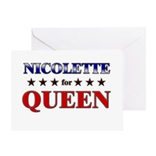 NICOLETTE for queen Greeting Card