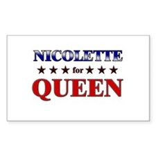 NICOLETTE for queen Rectangle Decal