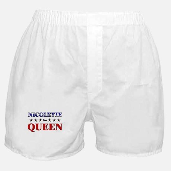 NICOLETTE for queen Boxer Shorts