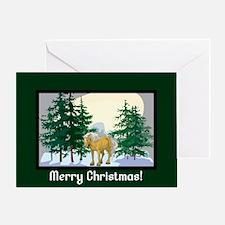 Belgian Horse Christmas Greeting Card