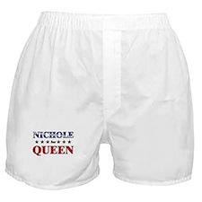 NICHOLE for queen Boxer Shorts