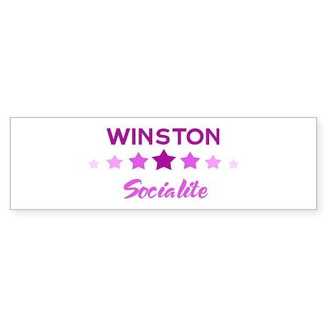 WINSTON socialite Bumper Sticker