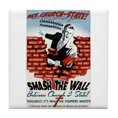 Smash the Wall Tile Coaster
