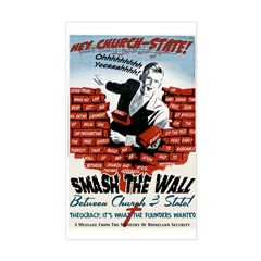 Smash the Wall Rectangle Decal
