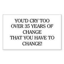 Crying for Change Rectangle Decal