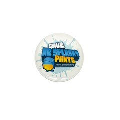 Mr Splashy Pants Mini Button