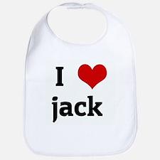I Love jack  Bib