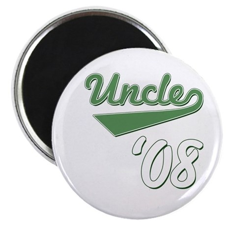 "Baseball Script Uncle 08 2.25"" Magnet (100 pack)"