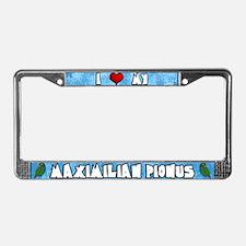 Cartoon Love Maximilian Pionus License Plate Frame