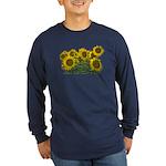 Sunflowers Long Sleeve Dark T-Shirt