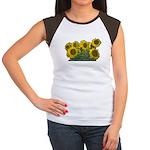 Sunflowers Women's Cap Sleeve T-Shirt