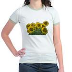 Sunflowers Jr. Ringer T-Shirt