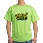 Sunflowers Green T-Shirt