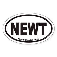 Newt Gingrich For President 2012 Euro Oval Decal