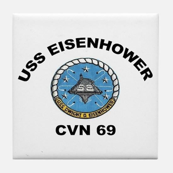 USS Eisenhower CVN-69 Tile Coaster