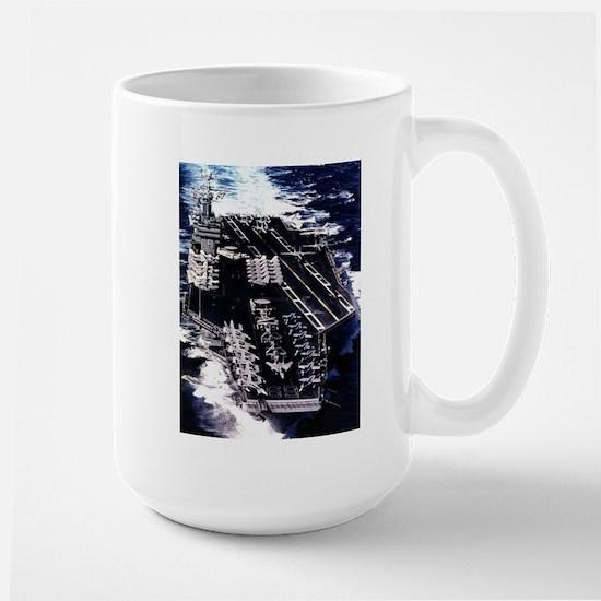 USS Eisenhower Ship's Image Large Mug