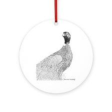 pheasant Ornament (Round)