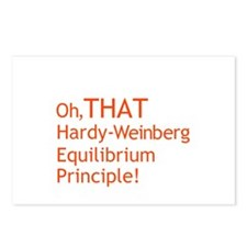 """THAT Hardy-Weinberg"" Postcards (Package of 8)"