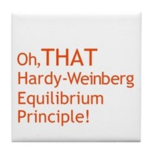 THAT Hardy-Weinberg Tile Coaster