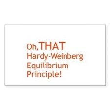 THAT Hardy-Weinberg Rectangle Decal